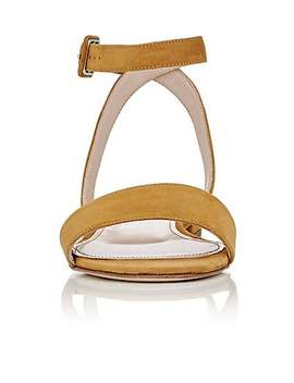 Suede Crisscross Strap Sandals by Barneys New York