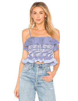 Smocked Ruffle Top by Endless Rose