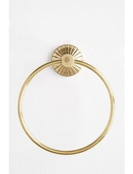 Fluted Towel Ring by Anthropologie