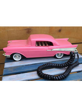 Vintage 80's Pink Cadillac Phone. 1959 Pink Cadellac. Retro Cadillac Phone. by Etsy