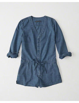 Button Up Denim Romper by Abercrombie & Fitch