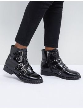 Morgan Studded Strap Ankle Boot by Morgan