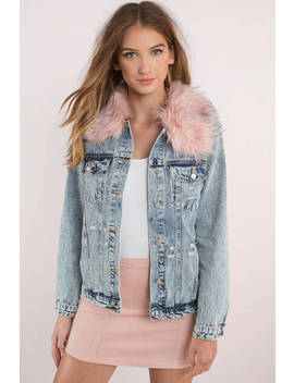Honey Punch Clueless Light Wash Denim Jacket by Tobi