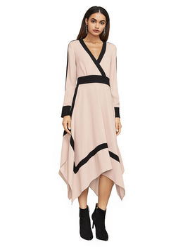 Bambi Color Blocked Wrap Dress by Bcbgmaxazria