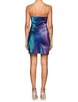 Dora Cotton Blend Lamé Cami Dress by Area