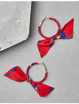 Aeo Red Bow Hoop Earring by American Eagle Outfitters