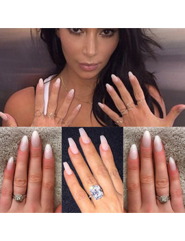 Natural Pink Nails • Press On Nails • Coffin Nails• Kim Kardashian • False Nails• Fake Nails • Stiletto Nails • Acrylic Nails • Gel Nails by Etsy