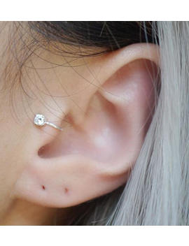 Sterling Silver 3mm Cz Tragus Ear Cuff by Etsy