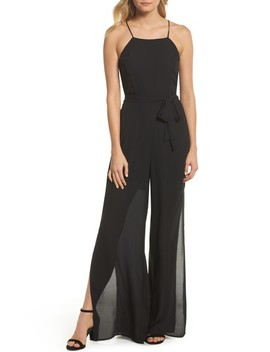 Wide Leg Halter Jumpsuit by Forest Lily