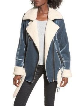 Ophelia Oversize Faux Shearling Jacket by Afrm