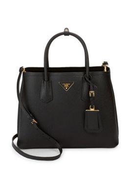 Argilla Leather Tote Bag by Prada