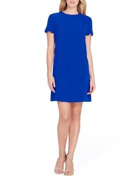 Scallop Shift Dress by Tahari