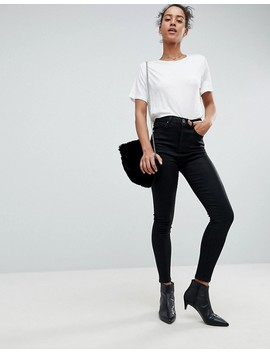 Asos Design 'sculpt Me' Premium Jeans In Black Coated by Asos Collection