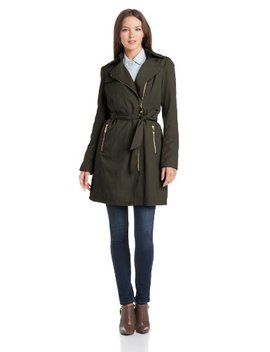 Vince Camuto Women's Zip Front Trench Coat by Vince Camuto
