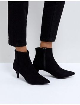 New Look Pointed Kitten Heel Ankle Boot by New Look