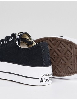 Converse Chuck Taylor All Star Platform Ox Sneakers In Black by Converse