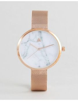asos-curve-marble-face-mesh-watch by asos-curve