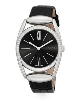 Diamantissima Leather Strap Watch by Gucci