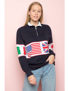 Isabella Flags Sweatshirt by Brandy Melville
