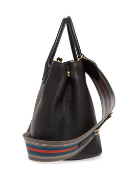 Vit Daino Calfskin Leather Tote by Prada