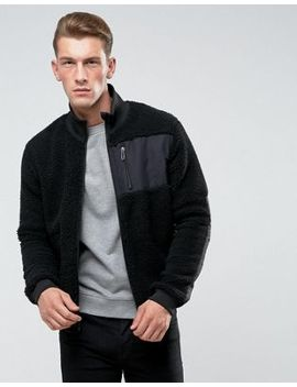 Only & Sons Teddy Jacket With Two Way Zip by Only & Sons