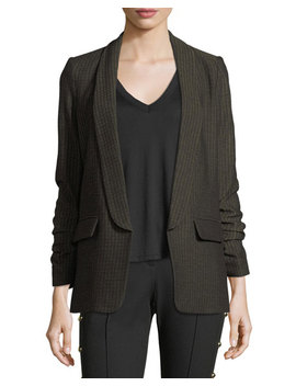 Clay Open Front Shawl Lapel Boyfriend Blazer by Neiman Marcus