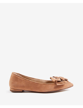 Dana Suede Bow Flats by Ann Taylor