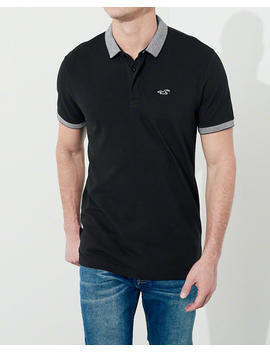 Stretch Pique Shrunken Collar Polo by Hollister