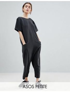 Asos Petite Minimal Jumpsuit With Dropped Crotch by Asos Design
