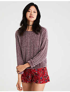 Ae Lightweight Chenille Pullover Sweater by American Eagle Outfitters