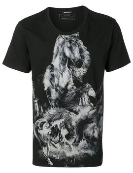 Printed Horse T Shirt by Balmain