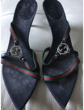 Vintage Gucci Sandals Kitten Heel  Size 10 by Gucci