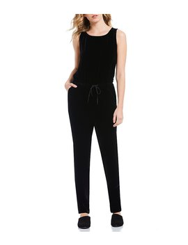 Drawstring Slouchy Jumpsuit by Eileen Fisher