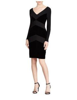 Chevron Velvet Dress by Lauren Ralph Lauren