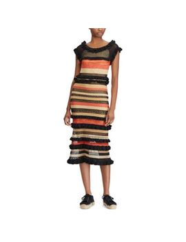 Striped Linen Blend Maxidress by Ralph Lauren