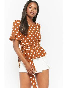 High Low Polka Dot Top by Forever 21