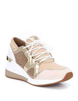 Michael Michael Kors Scout Suede Metallic Trainer Sneakers by Michael Michael Kors