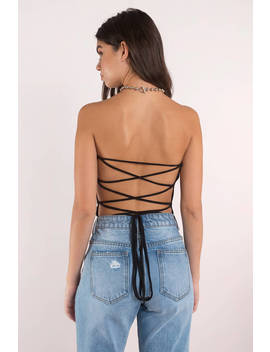 Get Attached Mocha Lace Up Bodysuit by Tobi