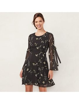 Women's Lc Lauren Conrad Bell Sleeve A Line Dress by Kohl's