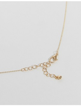 Asos Fine Chain Necklace With Shard Drop by Asos Collection