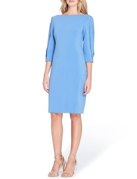 Split Sleeve Midi Sheath Dress by Tahari