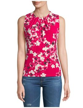 Petite Floral Print Sleeveless Top by Calvin Klein