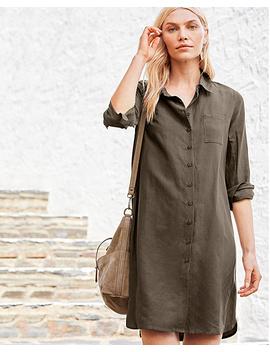 Silk & Linen Shirtdress by Garnet Hill