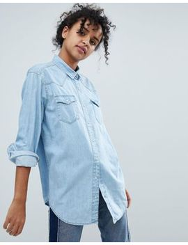 Monki Washed Out Denim Shirt by Monki