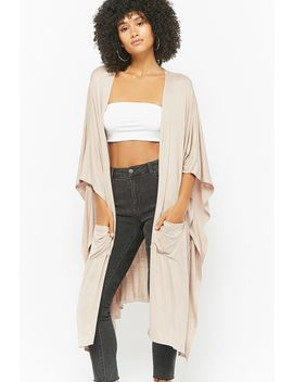 Oversized Batwing Sleeve Cardigan by F21 Contemporary