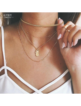 New Fashion Multi Layer Pineapple Necklace Set Women Girl Jewelry Gift N0028 by Just Do My Best