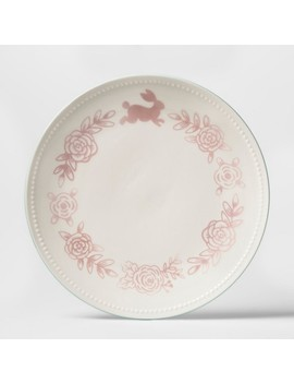 Round Ceramic Dining Plate   Pink Floral   1pc   Threshold™ by Threshold™