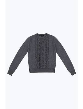 Ruffle Crewneck Sweater by Marc Jacobs