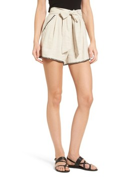 Pleat Blanket Stitch Shorts by Moon River