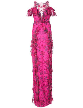 Long Floral Gown by Marchesa Notte